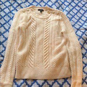 J.Crew Cream Cable Knit Sweater